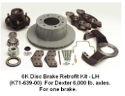 6K Disc Brake Retrofit Kit - LH