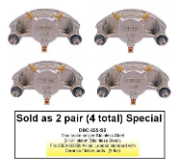 2 Pair of Kodiak Disc Brake Calipers - Stainless Steel - 3,500 lbs to 6,000 lbs