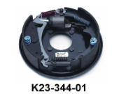 "Complete 10"" x 2-1/4"" hydraulic free backing corrosion resistant brake assembly (standard brake shown).  Left Hand."