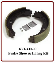 LH Shoe &  Lining Kit - For 9 Hole Stamped Assembly