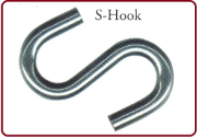 "S-HOOK 3K 3/8"" FOR 3/16"" CHAIN"