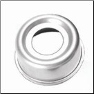 "Grease Cap EZ 21-42-1 Fits Dexter 12 x 2"" hub 6 bolt.  2.44"" OD, chrome. (SKU: 27-371-2)"