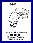 Shoe & Roller Assembly LH (SKU: 040-321-02)
