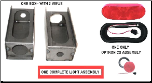 Optronics New Style Oblong  Lite Box --  Universal, Left Hand or Right Hand KIT (SKU: 11-108-NDB-0P-K)