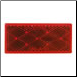 Rectangle Reflector - Red