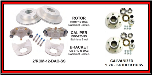 "Kodiak Disc Brake Kit - 12"" Rotor - 6 on 5-1/2 - Stainless Steel - 5,200 lbs to 6,000 lbs (SKU: 2/RCM-12- DAC-SS-KIT SP-WITH HUBS -AU)"