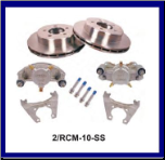 "2/HCM-10-SS-KIT --10"" Disc Brake Set (For Use With 545 Galvanized Hub SKU:   8-248-50UC1-EZ 3,500 lbs., * 4-Bolt Brake Flange Required 3.5K 545  Rotor Disc Kit, 1 axle ( Stainless Steel ) (SKU: 2/RCM-10-SS-KIT-AU)"