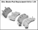 3.5K Disc Brake Pad Replacment Kit (K71-623)