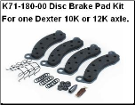 10K-12K Disc Brake Pad Kit 71-180