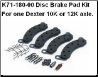 10K-12K Disc Brake Pad Kit 71-180 (SKU: 27-414)