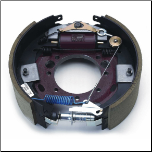 "10K  HD--LH Hyd Brake 23-404 (K23-404-00)  Complete 12-1/4"" x 4"" hydraulic 10K HD Duo-Servo FSA Brake Assembly.  Left Hand."