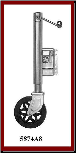 "1500# OSD Swivel Jack, 8"" Diamond Wheel, Grease Fitting, Bolt-on, Zinc"