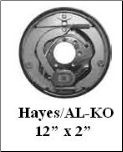 LH Brake Assembly Complete 7K Hayes/Al-Ko (SKU: 60208712)