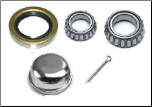Axle Bearing Kits, Seals, Grease Caps