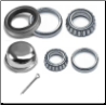 Mobile Home Bearing Kit  (4.5K) With Grease Cap & Cones (Races) (SKU: 55-27040-WC)