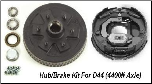 "D44 Hub Kit 10"" Brake with 6 on 5.5"" Bolt Pattern (SKU: 27-08-407-05-RH-K)"
