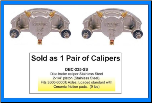 Pair of Kodiak Disc Brake Calipers - Stainless Steel - 3,500 lbs to 6,000 lbs (SKU: DBC-225-SS-2X-AU)