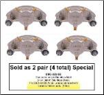 2 Pair of Kodiak Disc Brake Calipers - Stainless Steel - 3,500 lbs to 6,000 lbs (SKU: DBC-225-SS-4X-AU)