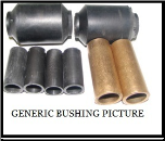 "3"" SPG EYE BUSH BRNZ 10-15K 1""ID 1.25""OD 3""LONG BRONZE 10-15K"