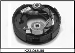 "7"" x 1-1/4"" electric brake assembly.  Right Hand. (SKU: K23-048-00)"