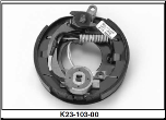"Complete 7"" x 1-1/4"" electric brake with park assembly.  Left Hand. (SKU: K23-103-00)"