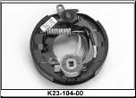 "Complete 7"" x 1-1/4"" electric brake with park assembly.  Right Hand. (SKU: K23-104-00)"