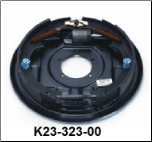 "Complete 12"" x 2"" hydraulic 5200# duo-servo (uni-servo shown) brake assembly.  Right Hand. (SKU: k23-323-00)"