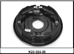 "Complete 12"" x 2"" Hydraulic 5200# Uni-servo brake assembly.  Left Hand / 6400046 (SKU: K23-324-00)"