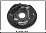 "12"" x 2"" hydraulic 7K free backing brake assembly. Right Hand. (SKU: K23-343-00)"