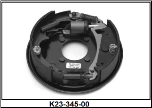 "Complete 10"" x 2-1/4"" hydraulic free backing brake assembly (standard brake shown).  Right Hand. (SKU: K23-345-00)"