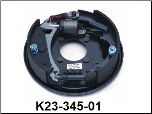 "Complete 10"" x 2-1/4"" hydraulic free backing corrosion resistant brake assembly (standard brake shown).  Right Hand. (SKU: K23-345-01)"