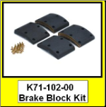 "BRAKE BLOCKS,DEX AIR BRK 12.25""x4"", 1 WHEEL (SKU: K71-102-00)"