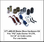 """PQ"" Style  Brake Shoe Hardware Kit (SKU: K71-460)"
