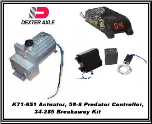 Dexter1600 PSI (Disc) Electric/Hydraulic Actuator With Breakaway..  INCLUDES SHIPPING & Handling USPS