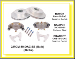 "2/RCM-10-DAC-SS-KIT -- 10"" Disc Brake Set (For Use With 545 Hub) - 3,500 lbs., * 4-Bolt Brake Flange Required (SKU: 2/RCM-10-DAC-SS-KIT-AU)"