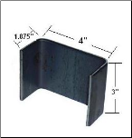 "STK-7GA (.1443"") - Weld-On stake trailer pockets, 4"" wide, 3"" tall, 1.875"" deep"