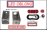 LED New Style Oblong  Lite Box --  Universal, Left Hand or Right Hand KIT
