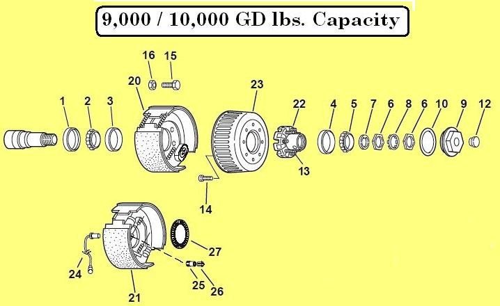 Dexter Axle 9k 10k Gd
